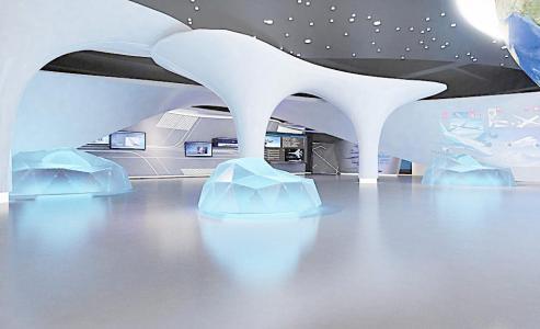 长期固定的,所以更要注重材料的选择,企业展厅设计体现的是企业的实力