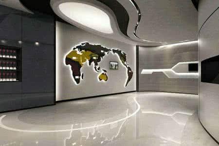中国传统元素在 企业展示厅设计上的融入是形式与内涵完美结合的